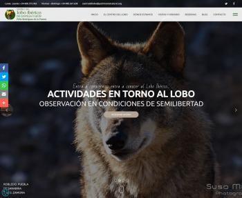 El Centro del Lobo Ibérico inaugura su nueva página web
