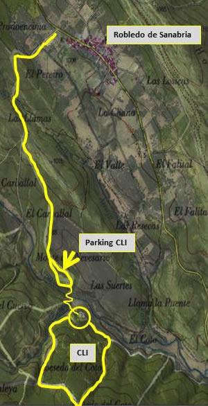 Plano de acceso al  Centro del Lobo Ibérico